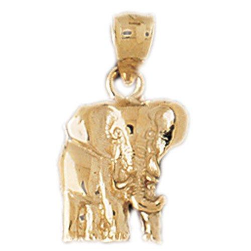 14K GOLD ANIMAL CHARM - ELEPHANT #2349