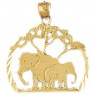 14K GOLD ANIMAL CHARM - ELEPHANT #2335