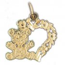 14K GOLD CHARM - TEDDY BEAR #2498