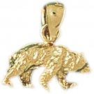 14K GOLD CHARM - BEAR #2552