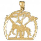 14K GOLD ANIMAL CHARM - GIRAFFE #2660