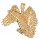 14K GOLD BIRD CHARM - EAGLE #2771