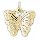 14K GOLD ANIMAL FILIGREE CHARM - BUTTERFLY #3120