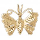 14K GOLD ANIMAL FILIGREE CHARM - BUTTERFLY #3107