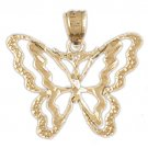14K GOLD ANIMAL FILIGREE CHARM - BUTTERFLY #3097