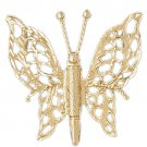 14K GOLD ANIMAL CHARM - BUTTERFLY #3087
