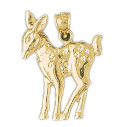 14K GOLD ANIMAL CHARM - DEER #2259