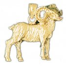 14K GOLD ANIMAL CHARM - RAM #2237