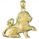14K GOLD ANIMAL CHARM - LION #1689