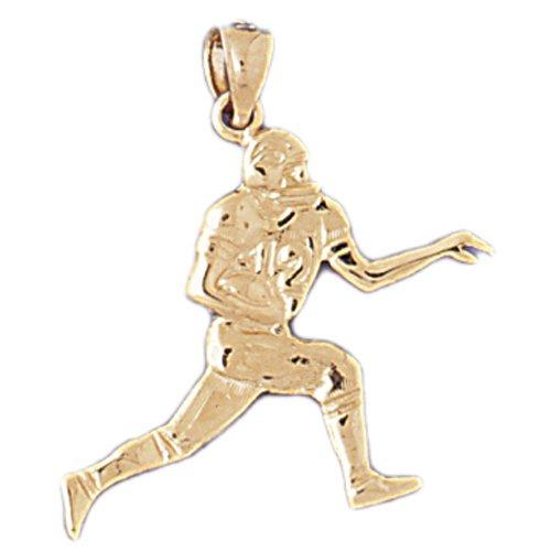 14K GOLD SPORT CHARM - FOOTBALL PLAYER # 3196