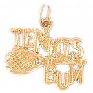 14K GOLD SPORT CHARM - TENNIS RACKET # 3315