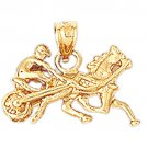 14K GOLD SPORT CHARM - HARNESS RACING #1784