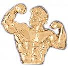 14K GOLD SPORT CHARM - BODYBUILDING #3467