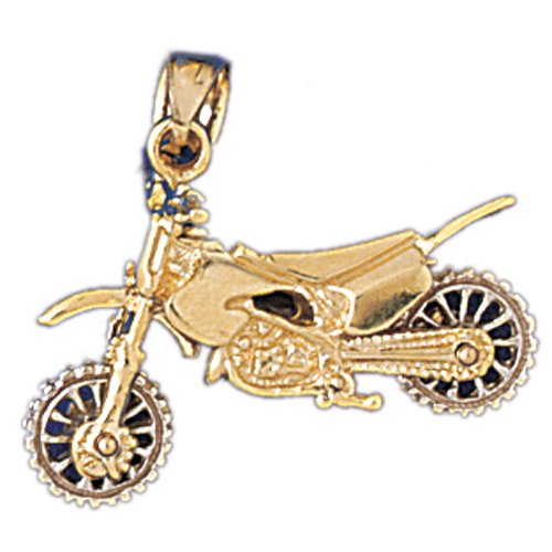 14K GOLD SPORT CHARM - MOTORCYCLE #3716