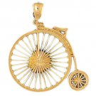 14K GOLD SPORT CHARM - CYCLING #3655