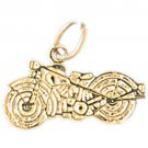 14K GOLD SPORT CHARM - MOTORCYCLE #3646
