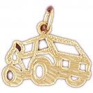 14K GOLD TRANSPORTATION CHARM - ARMORED CAR #4399