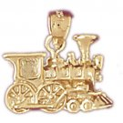 14K GOLD TRANSPORTATION CHARM - LOCOMOTIVE #4391