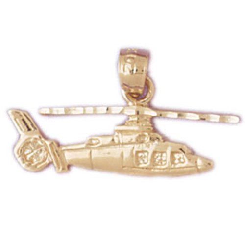 14K GOLD CHARM - HELICOPTER #4461