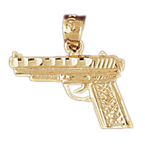 14K GOLD MILITARY CHARM - PISTOL #4529