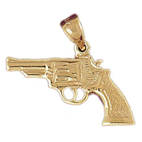 14K GOLD MILITARY CHARM - GUN #4526