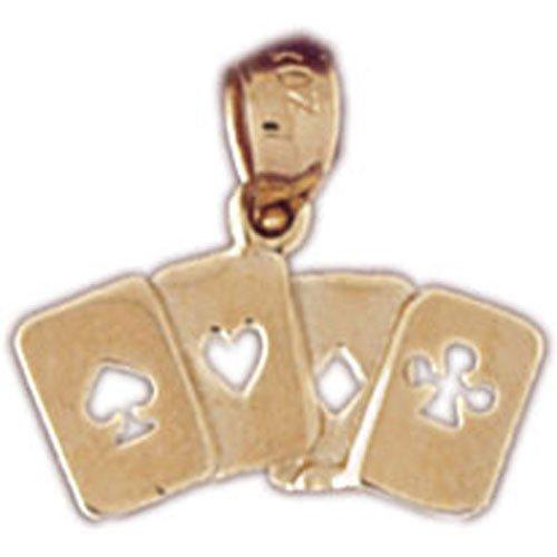 14K GOLD GAMBLING CHARM - PLAYING CARDS #5437