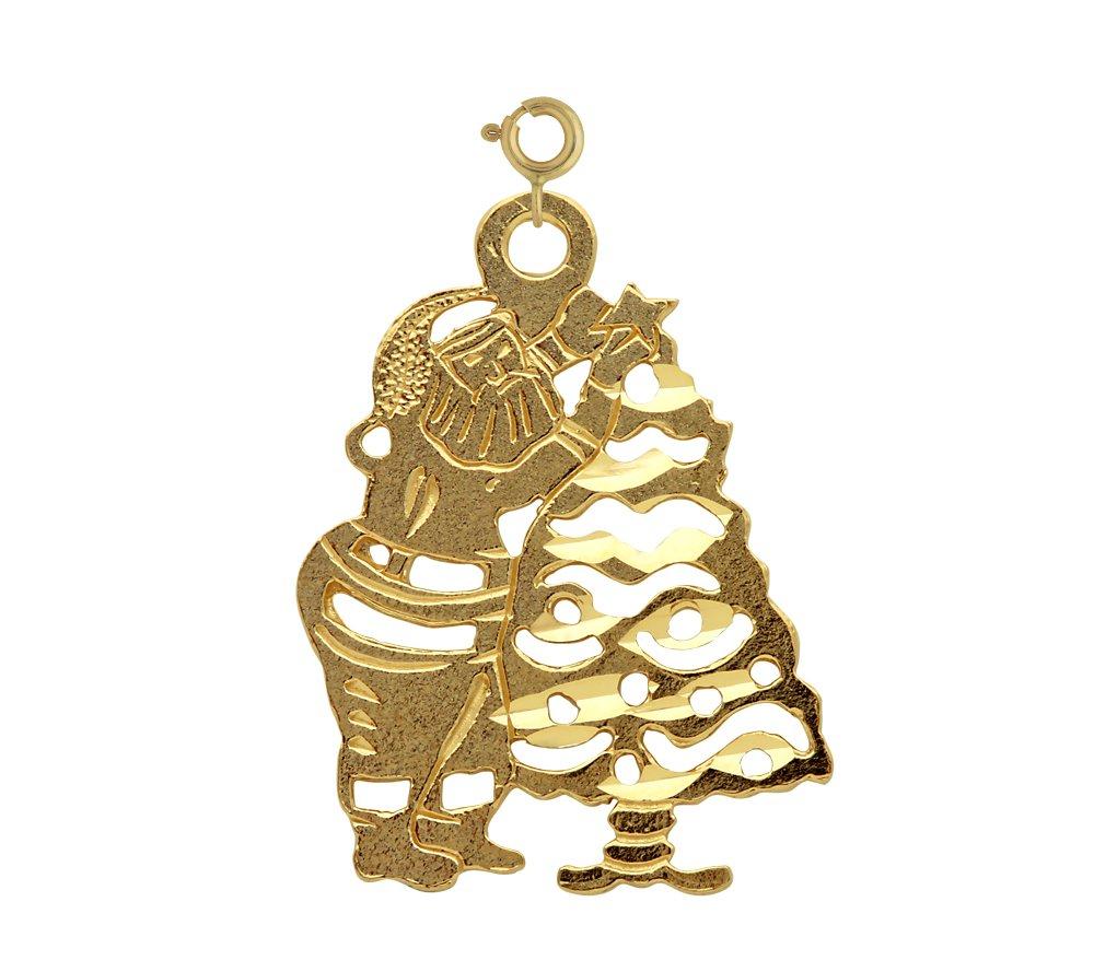 14K GOLD CHRISTMAS CHARM - SANTA CLAUS #5568