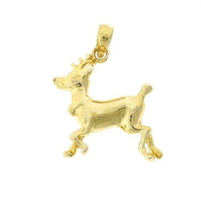 14K GOLD CHRISTMAS CHARM - ELK #5489