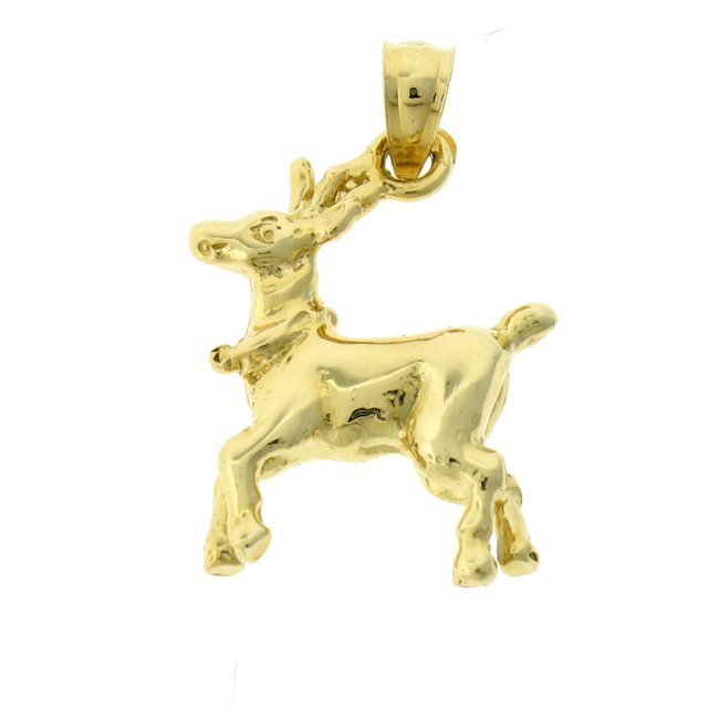 14K GOLD CHRISTMAS CHARM - ELK #5488