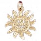 14K GOLD CHARM - SUN #5664