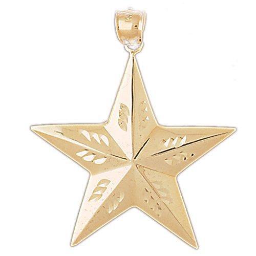 14K GOLD CHARM - STAR #5641