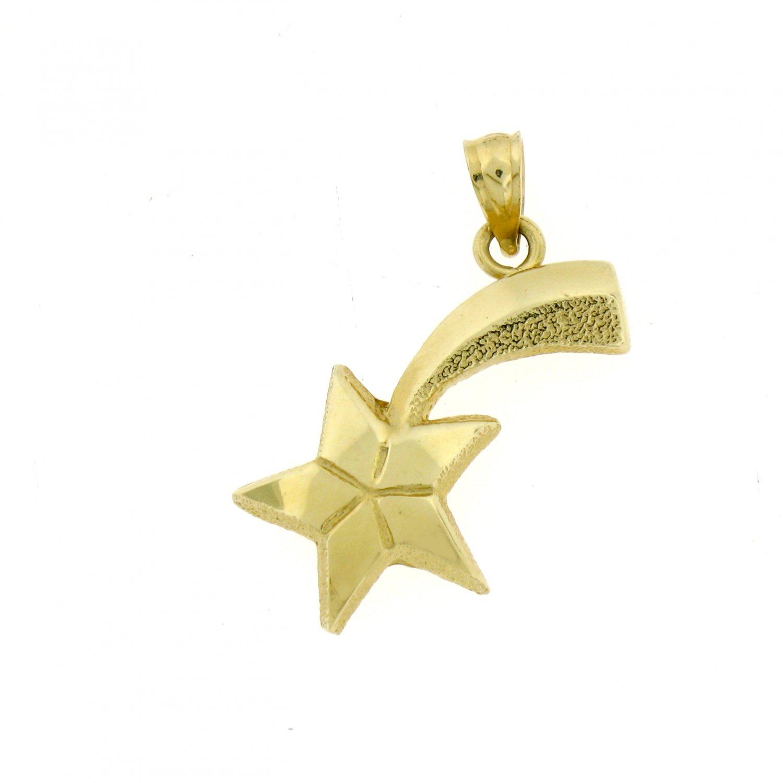 14K GOLD CHARM - FALLING STAR #5700