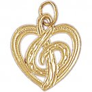 14K GOLD MUSIC CHARM - MUSIC CLEF SIGN #6198