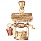 14K GOLD CHARM - WELL #7006