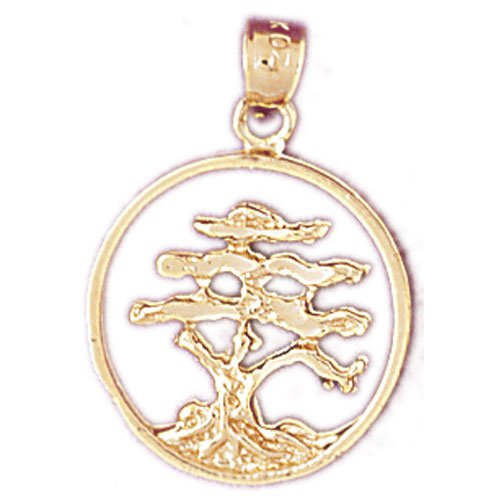 14K GOLD TREE CHARM #6836