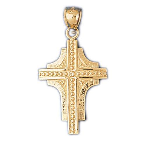 14K GOLD RELIGIOUS CHARM - CROSS #8058