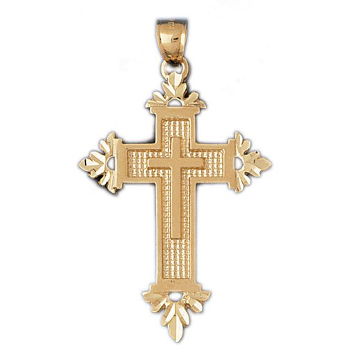 14K GOLD RELIGIOUS CHARM - CROSS #7958