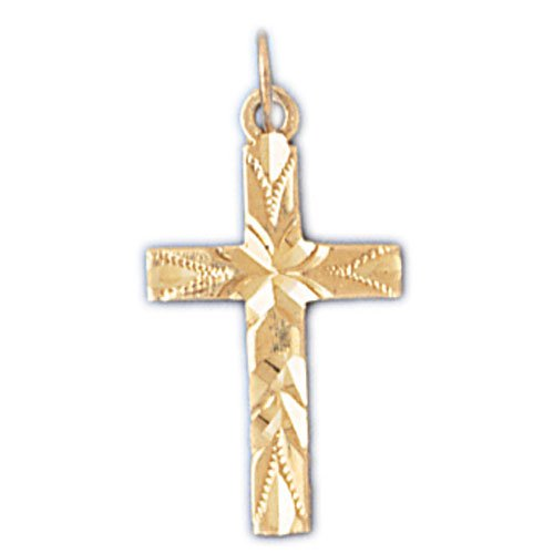 14K GOLD RELIGIOUS CHARM - SMALL CROSS #8314