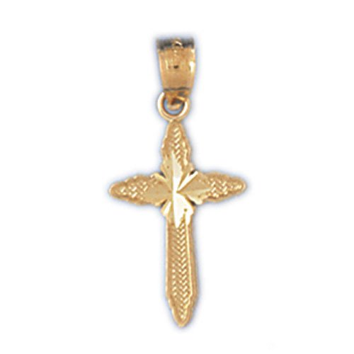14K GOLD RELIGIOUS CHARM - SMALL CROSS #8302
