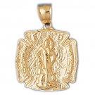 14K GOLD RELIGIOUS CHARM - ST. FLORIAN #8813
