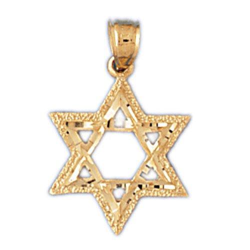 14K GOLD JEWISH CHARM - STAR OF DAVID #9172