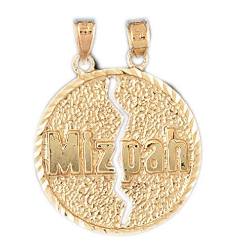 14K GOLD JEWISH CHARM - MIZPAH #9058
