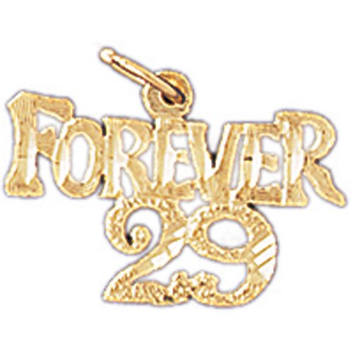14K GOLD SAYING CHARM - FOREVER 29 #9690