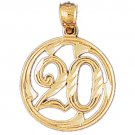 14K GOLD SAYING CHARM - 20 #9679