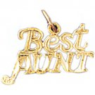 14K GOLD SAYING CHARM - BEST AUNT #9990