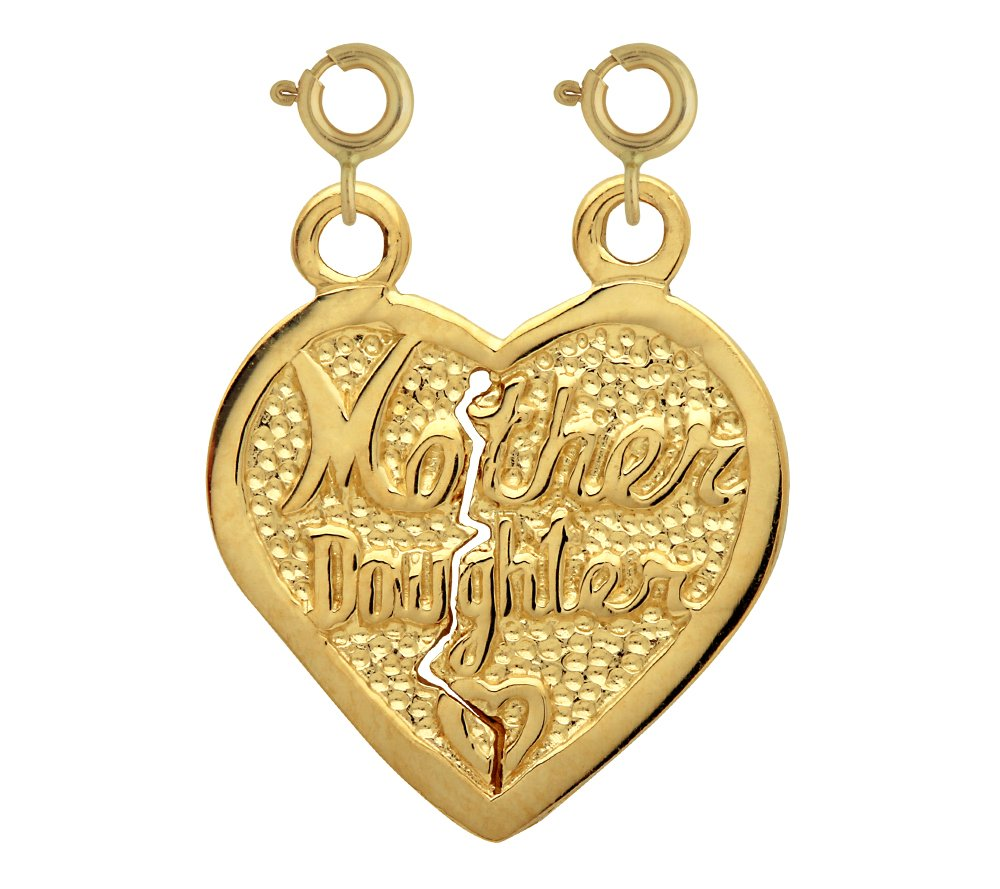 14K GOLD SAYING CHARM - MOTHER DAUGHTER #9905