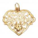 14K GOLD SAYING CHARM - SWEET GRANDMA #10044