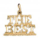 14K GOLD SAYING CHARM - THE BEST #10523
