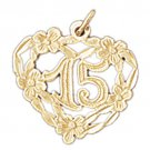 14K GOLD SAYING CHARM - 16 #10329