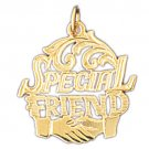 14K GOLD SAYING CHARM - SPECIAL FRIEND #10362